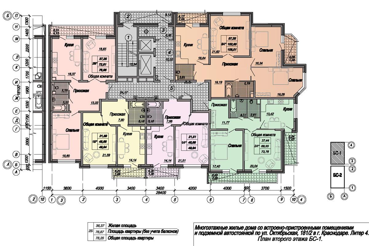План второго этажа БС-1
